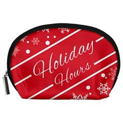 Winter Holiday Hours Accessory Pouches (large)