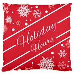 Winter Holiday Hours Standard Flano Cushion Case (one Side)