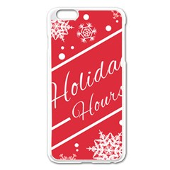 Winter Holiday Hours Apple Iphone 6 Plus/6s Plus Enamel White Case