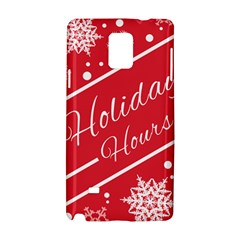 Winter Holiday Hours Samsung Galaxy Note 4 Hardshell Case