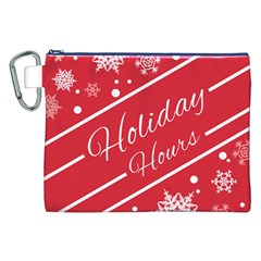 Winter Holiday Hours Canvas Cosmetic Bag (xxl)