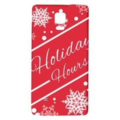 Winter Holiday Hours Galaxy Note 4 Back Case
