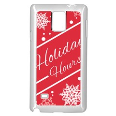 Winter Holiday Hours Samsung Galaxy Note 4 Case (White)