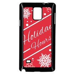 Winter Holiday Hours Samsung Galaxy Note 4 Case (black)