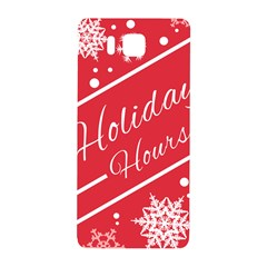 Winter Holiday Hours Samsung Galaxy Alpha Hardshell Back Case