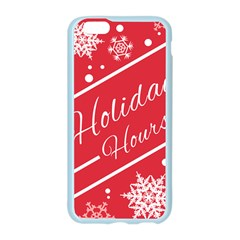 Winter Holiday Hours Apple Seamless iPhone 6/6S Case (Color)