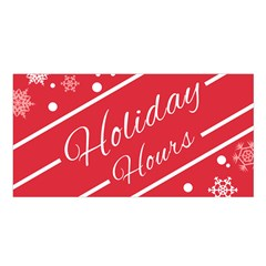 Winter Holiday Hours Satin Shawl