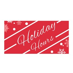 Winter Holiday Hours Satin Wrap