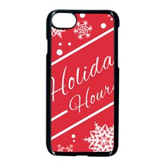 Winter Holiday Hours Apple Iphone 7 Seamless Case (black)
