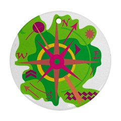 Green navigation Ornament (Round)