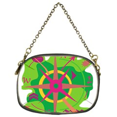 Green navigation Chain Purses (One Side)