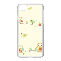 Owl Butterfly Bird Apple Iphone 7 Seamless Case (white)