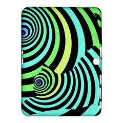 Optical Illusions Checkered Basic Optical Bending Pictures Cat Samsung Galaxy Tab 4 (10 1 ) Hardshell Case