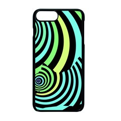 Optical Illusions Checkered Basic Optical Bending Pictures Cat Apple Iphone 7 Plus Seamless Case (black)