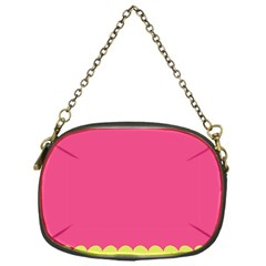 Pink Yellow Chain Purses (one Side)