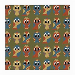 Owl Pattern Illustrator Medium Glasses Cloth