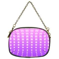 Purple And Pink Stars Chain Purses (one Side)