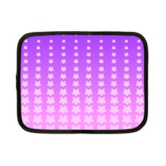 Purple And Pink Stars Line Netbook Case (small)