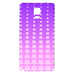 Purple And Pink Stars Line Galaxy Note 4 Back Case