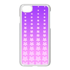 Purple And Pink Stars Line Apple Iphone 7 Seamless Case (white)