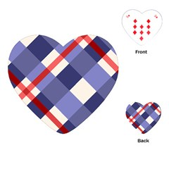 Red And Purple Plaid Playing Cards (heart)