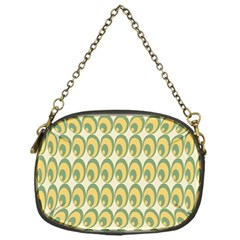 Pattern Circle Green Yellow Chain Purses (one Side)