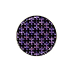 Puzzle1 Black Marble & Purple Marble Hat Clip Ball Marker (10 Pack)