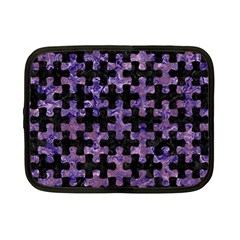 Puzzle1 Black Marble & Purple Marble Netbook Case (small)