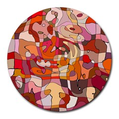 Abstract Abstraction Pattern Moder Round Mousepads