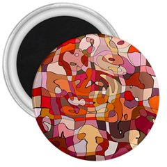 Abstract Abstraction Pattern Moder 3  Magnets