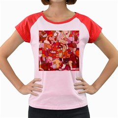 Abstract Abstraction Pattern Moder Women s Cap Sleeve T Shirt
