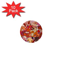 Abstract Abstraction Pattern Moder 1  Mini Buttons (10 pack)