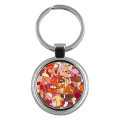 Abstract Abstraction Pattern Moder Key Chains (round)