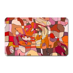 Abstract Abstraction Pattern Moder Magnet (Rectangular)