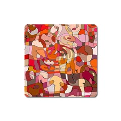 Abstract Abstraction Pattern Moder Square Magnet