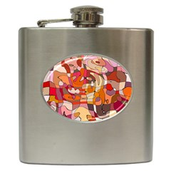 Abstract Abstraction Pattern Moder Hip Flask (6 oz)