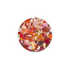 Abstract Abstraction Pattern Moder Golf Ball Marker