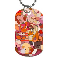 Abstract Abstraction Pattern Moder Dog Tag (two Sides)