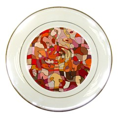 Abstract Abstraction Pattern Moder Porcelain Plates