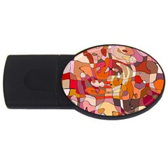 Abstract Abstraction Pattern Moder Usb Flash Drive Oval (4 Gb)