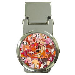 Abstract Abstraction Pattern Moder Money Clip Watches