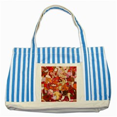Abstract Abstraction Pattern Moder Striped Blue Tote Bag