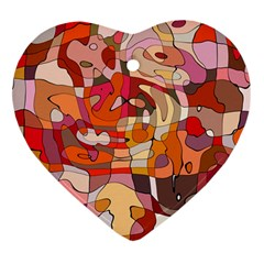 Abstract Abstraction Pattern Moder Heart Ornament (2 Sides)