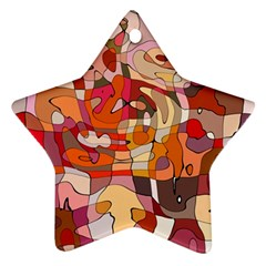 Abstract Abstraction Pattern Moder Star Ornament (two Sides)