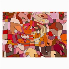Abstract Abstraction Pattern Moder Large Glasses Cloth (2 Side)