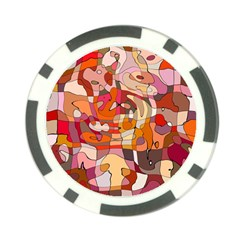 Abstract Abstraction Pattern Moder Poker Chip Card Guards