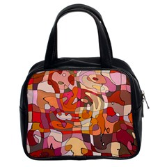 Abstract Abstraction Pattern Moder Classic Handbags (2 Sides)