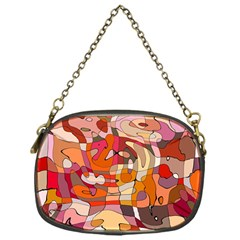 Abstract Abstraction Pattern Moder Chain Purses (One Side)