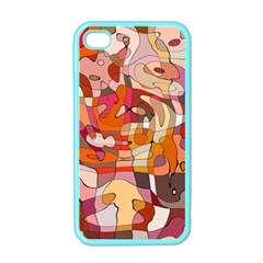 Abstract Abstraction Pattern Moder Apple Iphone 4 Case (color)