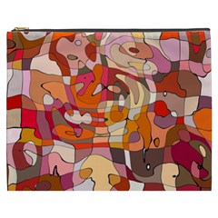 Abstract Abstraction Pattern Moder Cosmetic Bag (xxxl)